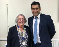 Rishi with Sharon Bannister, president of the Jewish Representative Council