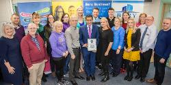 Phil and Debbie Fellone, Cllr Rishi Shori and the Academy Group 2016