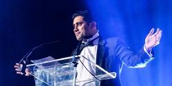Rishi at the Made in Bury business awards