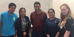 Meeting Bury's Member of Youth Parliament, Numair Khalid, along with representatives of the council