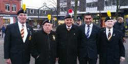Veterans at the remembrance tree lights dedication event