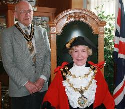 The Mayor and Consort - Councillor Dorothy Gunther and Mr. Michael Gunther