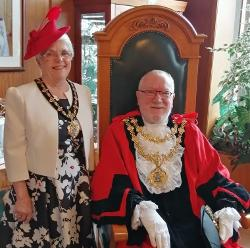 The Mayor and Mayoress - Councillor Trevor Holt and Mrs Evelyn Holt