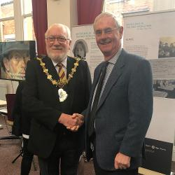 Councillor David Jones with the Mayor Councillor Trevor Holt