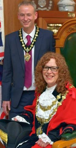 The Mayor and Consort - Councillor Jane Black and Mr. Mark Sankey