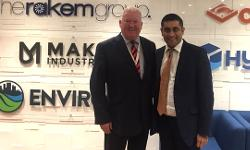Rishi with group director Kevin Rafferty